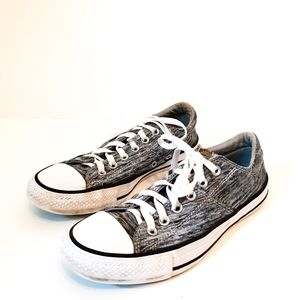 Converse Gray and White Low Top Sneakers